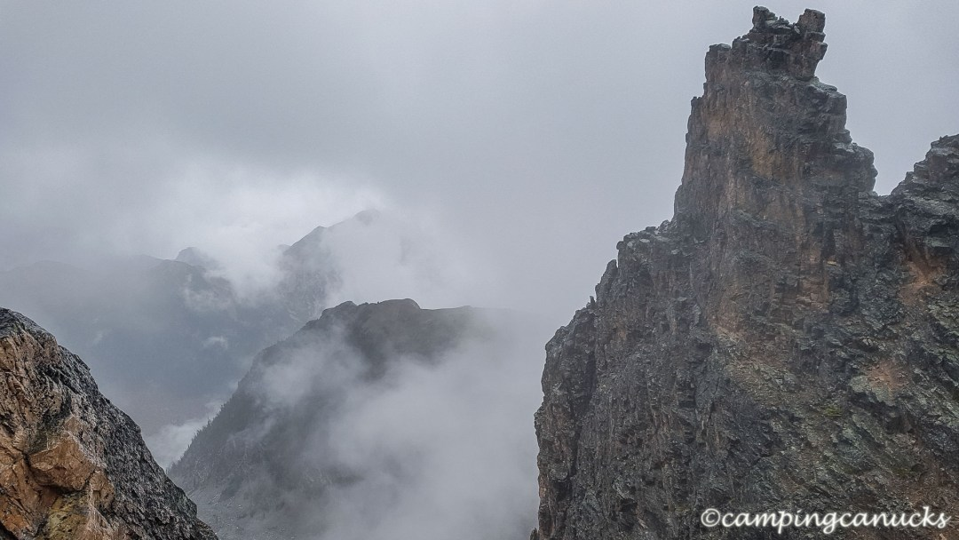 Cloudy in the mountains