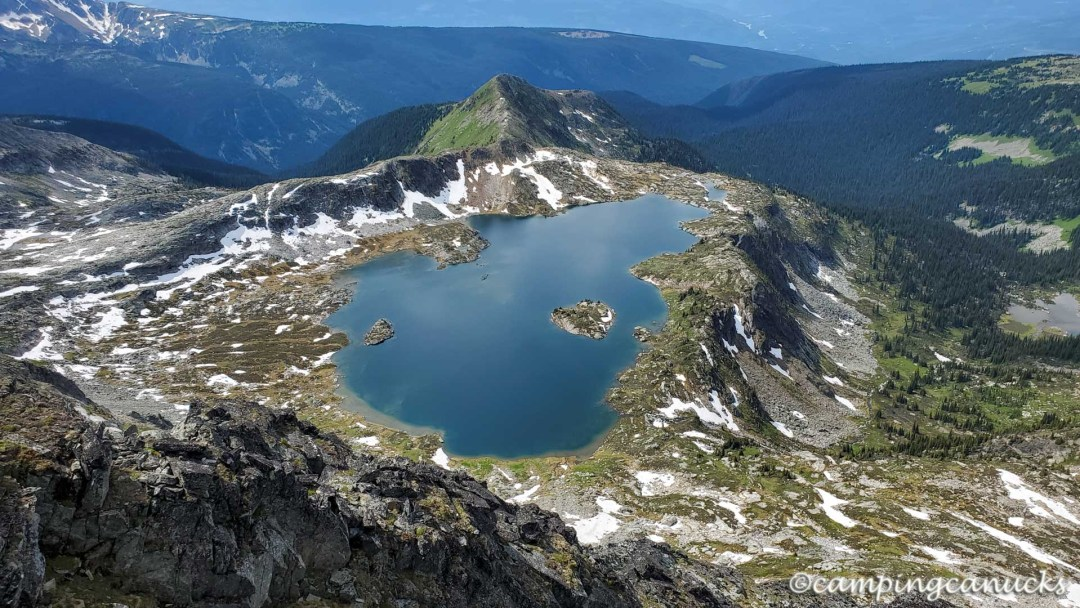 Cwemcwem Lake from the summit