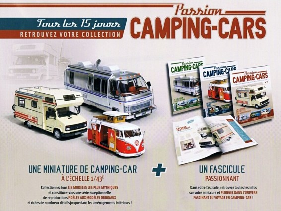 Collection Hachette : les miniatures Passion Camping-Cars
