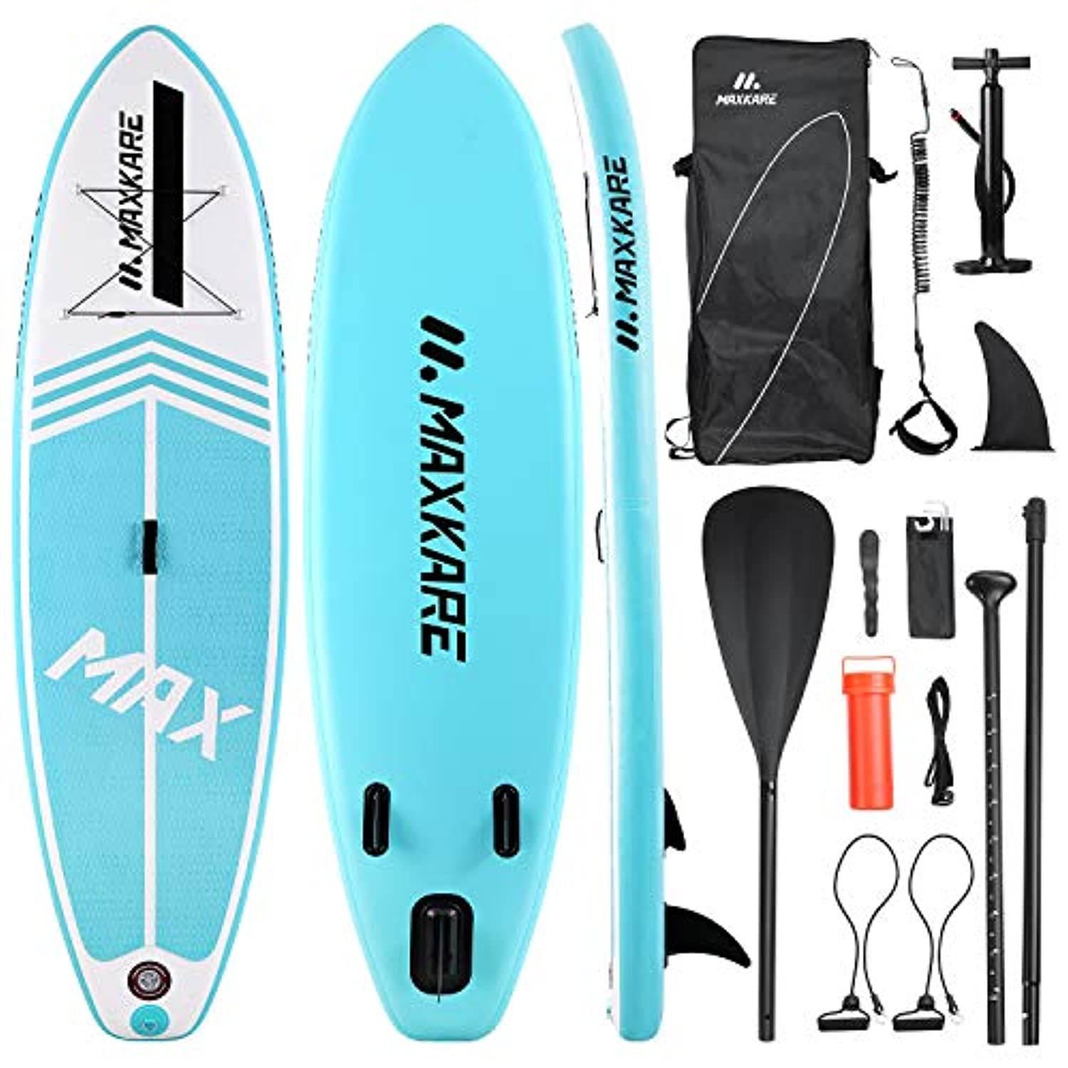Maxkare Stand Up Inflatable Paddle Board Sup Paddle Board