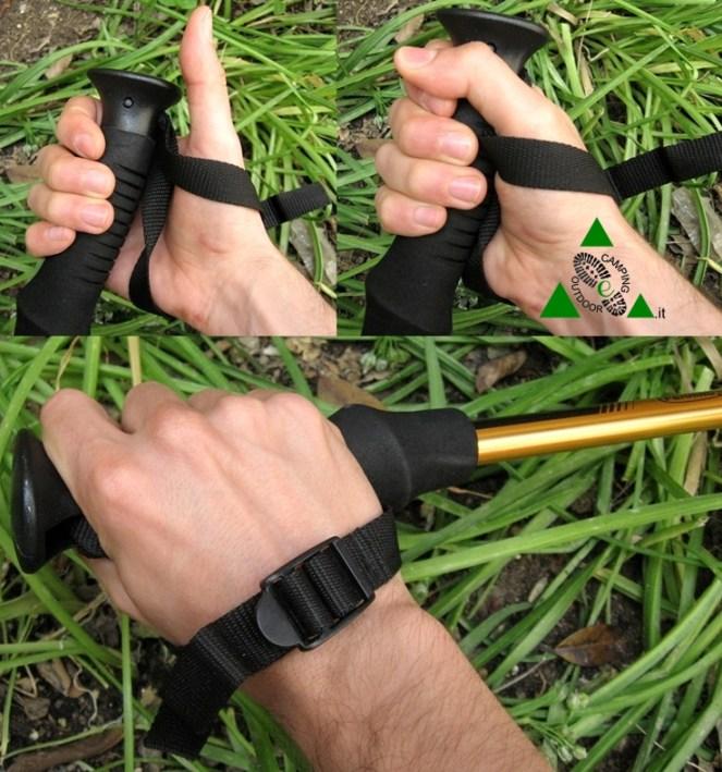 Come tenere i bastoncini da trekking-vert