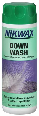 Il detergente per lavare il sacco a pelo in piuma
