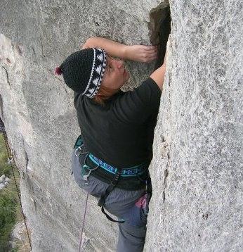 Simonetta arrampica a Norma