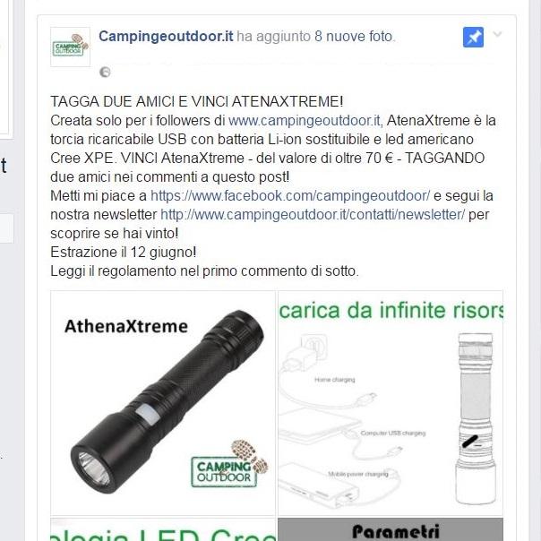 Vinta la prima torcia AtenXtreme su Facebook!