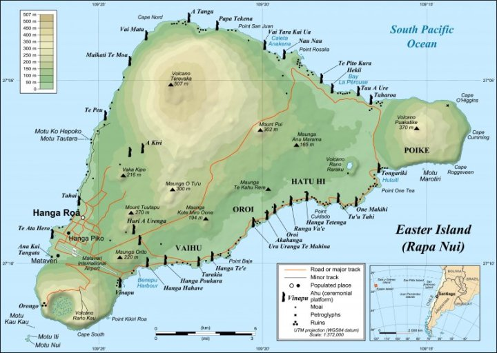 Easter Island detailed map