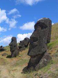 Moai near Rano Raraku Lake, Easter Island