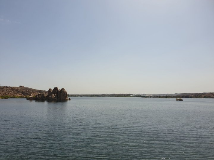 Wonderful views of Lake Nasser, Egypt from every part of the island.