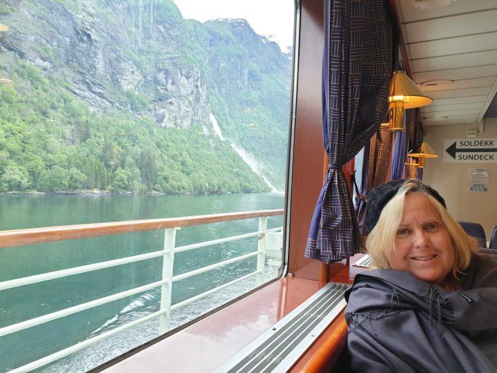 Cruising along Geirangerfjord