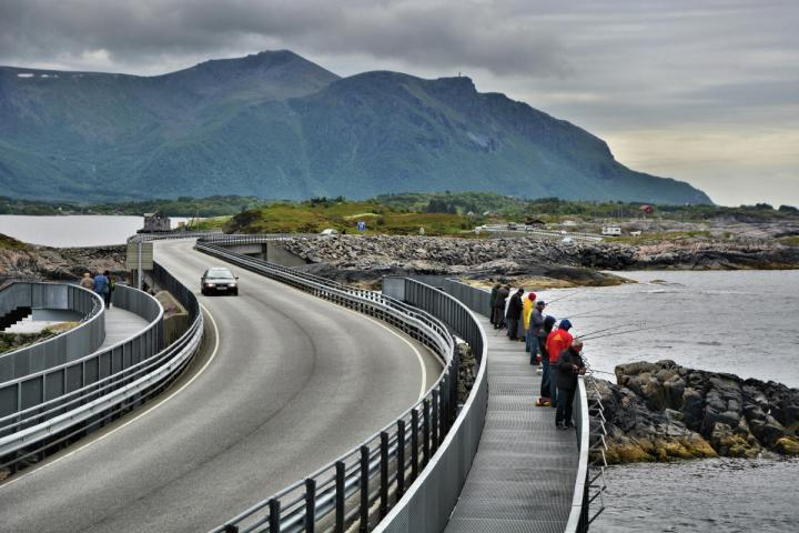 Pathways beside the Atlantic Road Norway