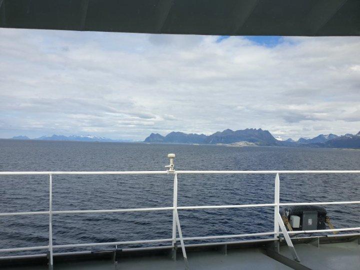 Norwegian Sea waters heading for the Lofoten Islands Norway