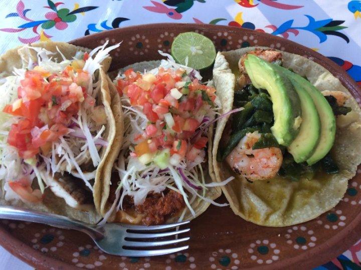 Restaurant dishes in Puerto Vallarta