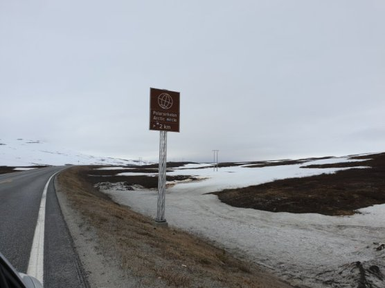 Arctic Circle Norway signpost
