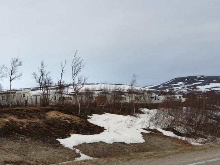 Caravan Park close to the Arctic Circle Centre Norway
