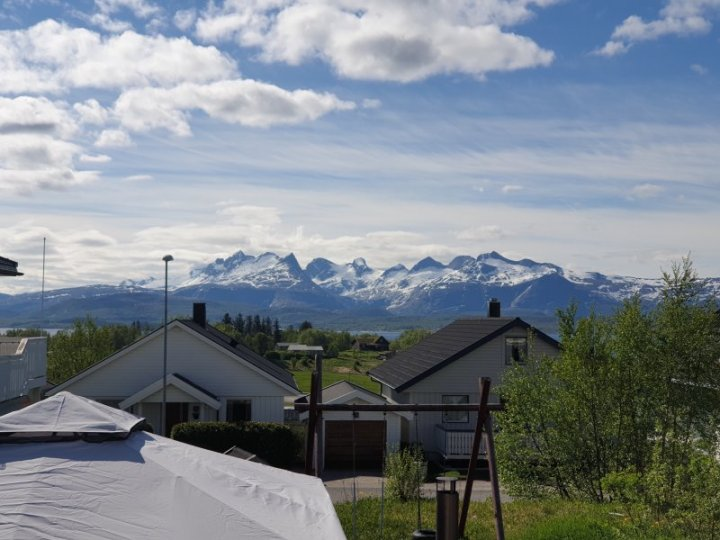 View from back porch in Bodo Norway