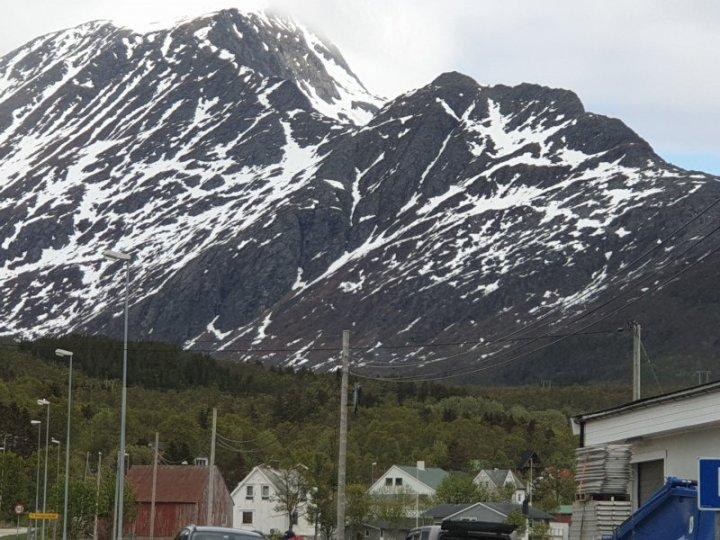 Village in arctic circle Norway