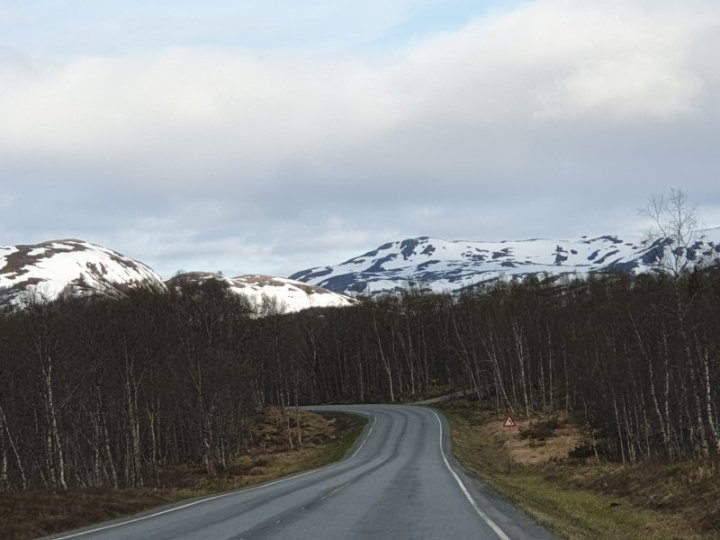 Roads in good condition in arctic circle Norway