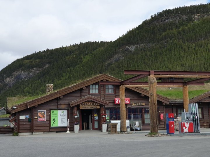 Convenience store, gift shop and fuel stop in the arctic circle Norway.