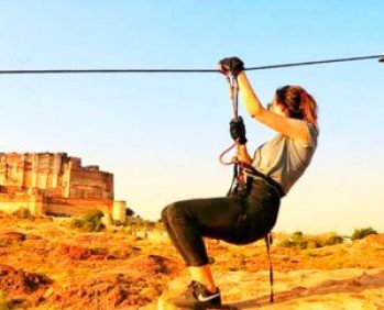 Ziplining at Jodhpur India
