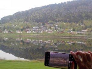 Beautiful vista from the Bergensbanen Train Norway