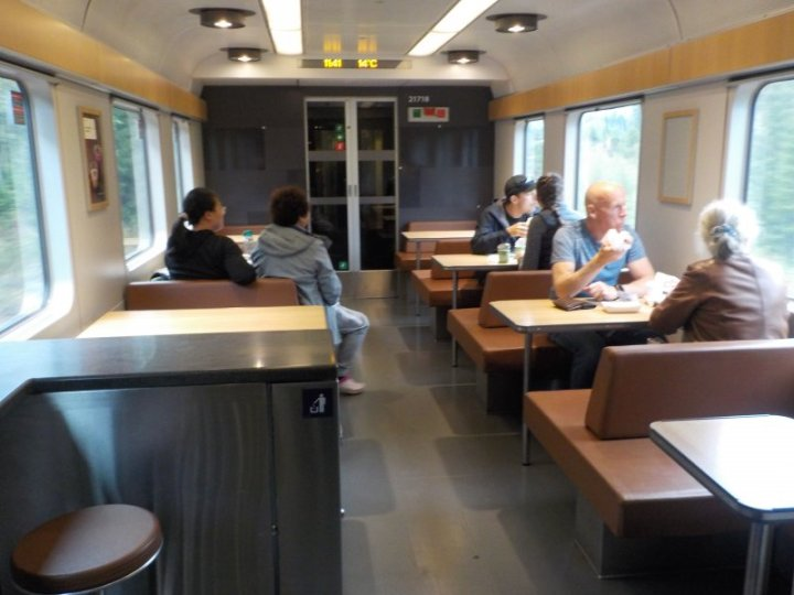 Dining carriage of the Bergensbanen