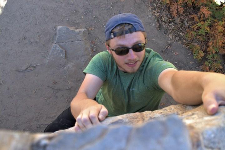 Boyfriend Rock climbing