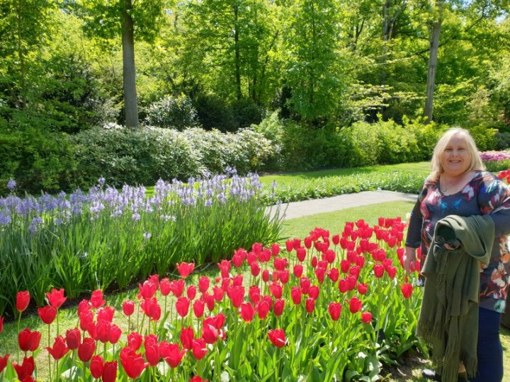 Nicole Anderson at Keukenhof Gardens, The Netherlands.