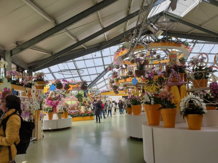 The indoor flower areas were very well displayed.