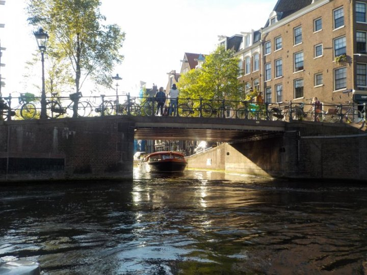 Gliding through the Amsterdam Canals.