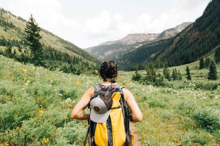 girl hiking