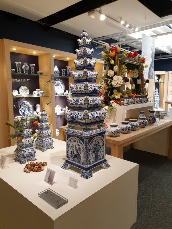 Showroom of Royal Delft, The Netherlands.