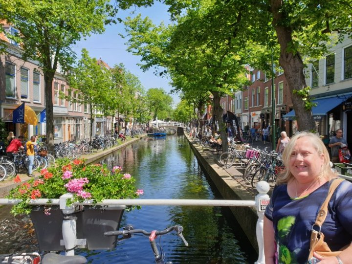 One of the canals in Delft, The Netherlands.