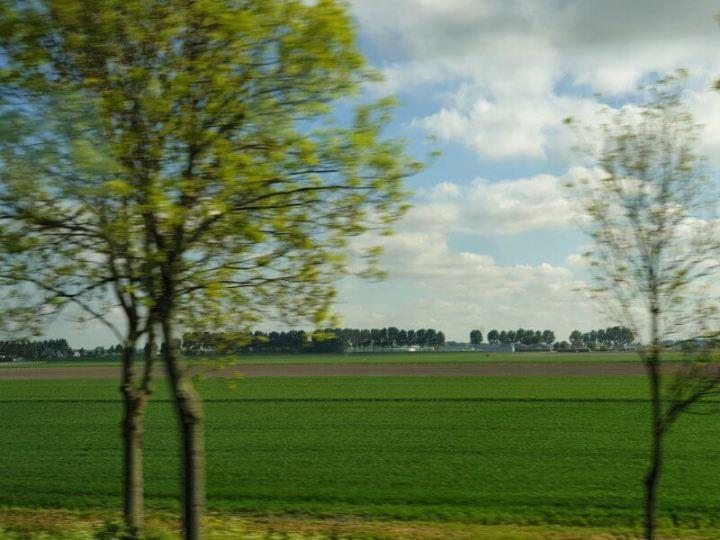 Naturally beautiful Dutch Countryside - flat, lush terrain.