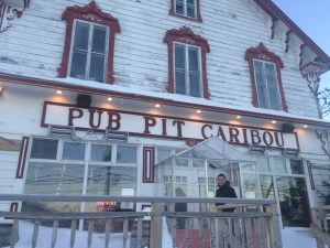 Pub Pit Caribou in downtown Percé