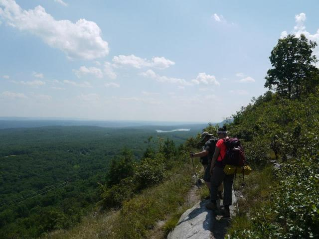 View from the Appalachian Trail along the Ridge in Worthington State Forest.
