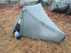 The Tarptent Notches outer vestibule doors provide full rain protection for the interior, even when the user is exiting or entering.
