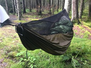 Bug netting on a Backpacking Hammock