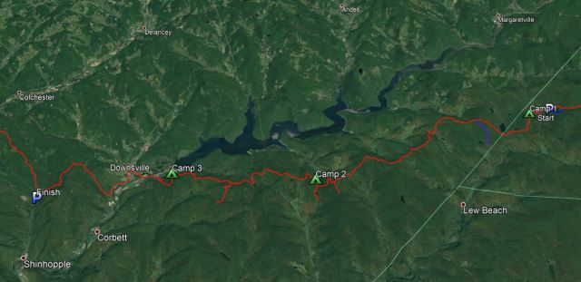 Finger Lakes Trail from Alder Lake to Downsville