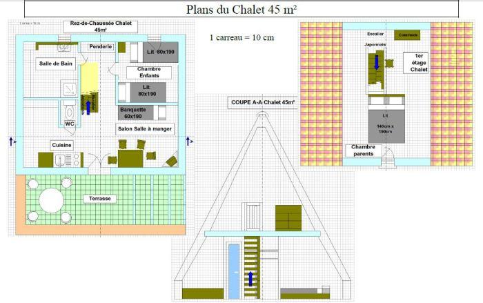 Locatifs Chalet 45m²