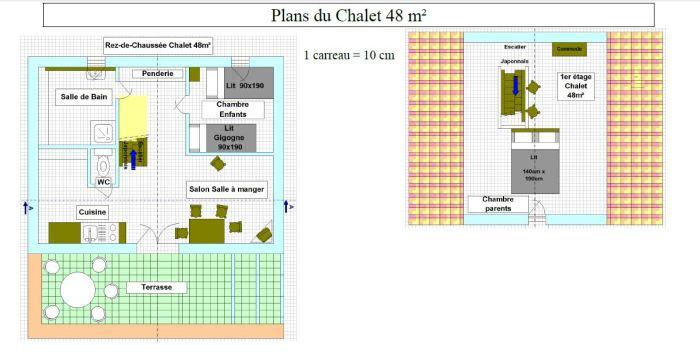 Chalet 48m²
