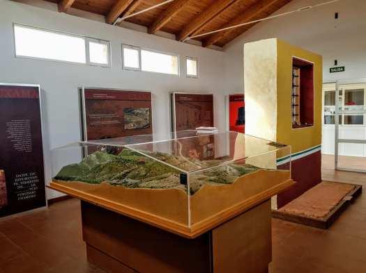 Uxama. Interior del Aula Arqueológica
