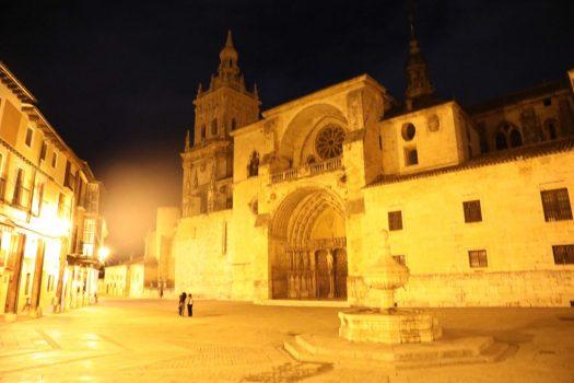 Catedral del burgo de osma por la noche