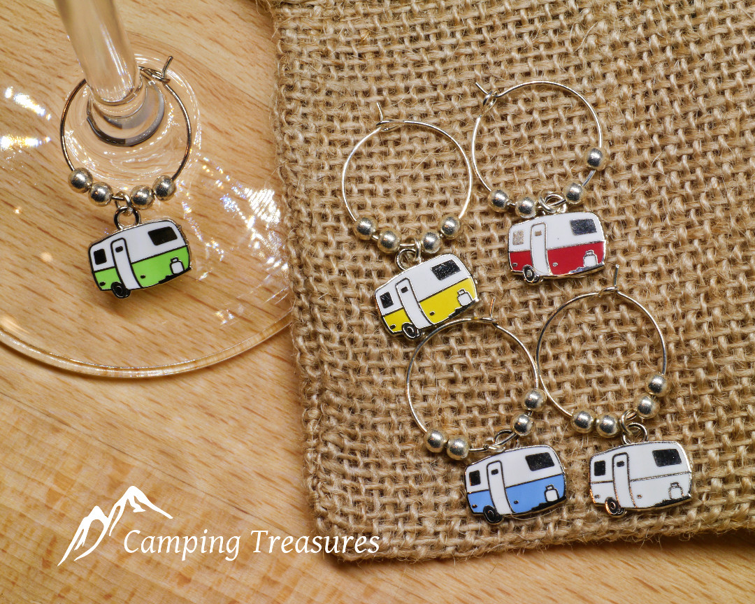 Wine Glass Charms - Boler/Scamp - Camping Treasures