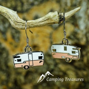 Earring – Shasta – Coral Pink