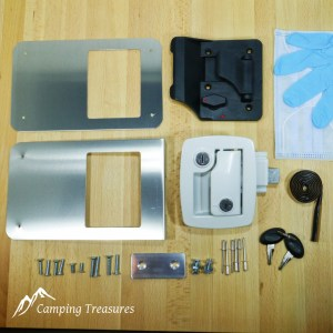 Boler – White – Door Lock Replacement Kit – 1975-1988 Boler