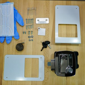 Boler – Door Lock Replacement Kit for Bargman L400 – Chrome – fits 1975-1988 Boler