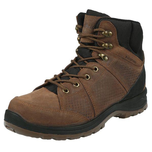 A waterproof hiking boot