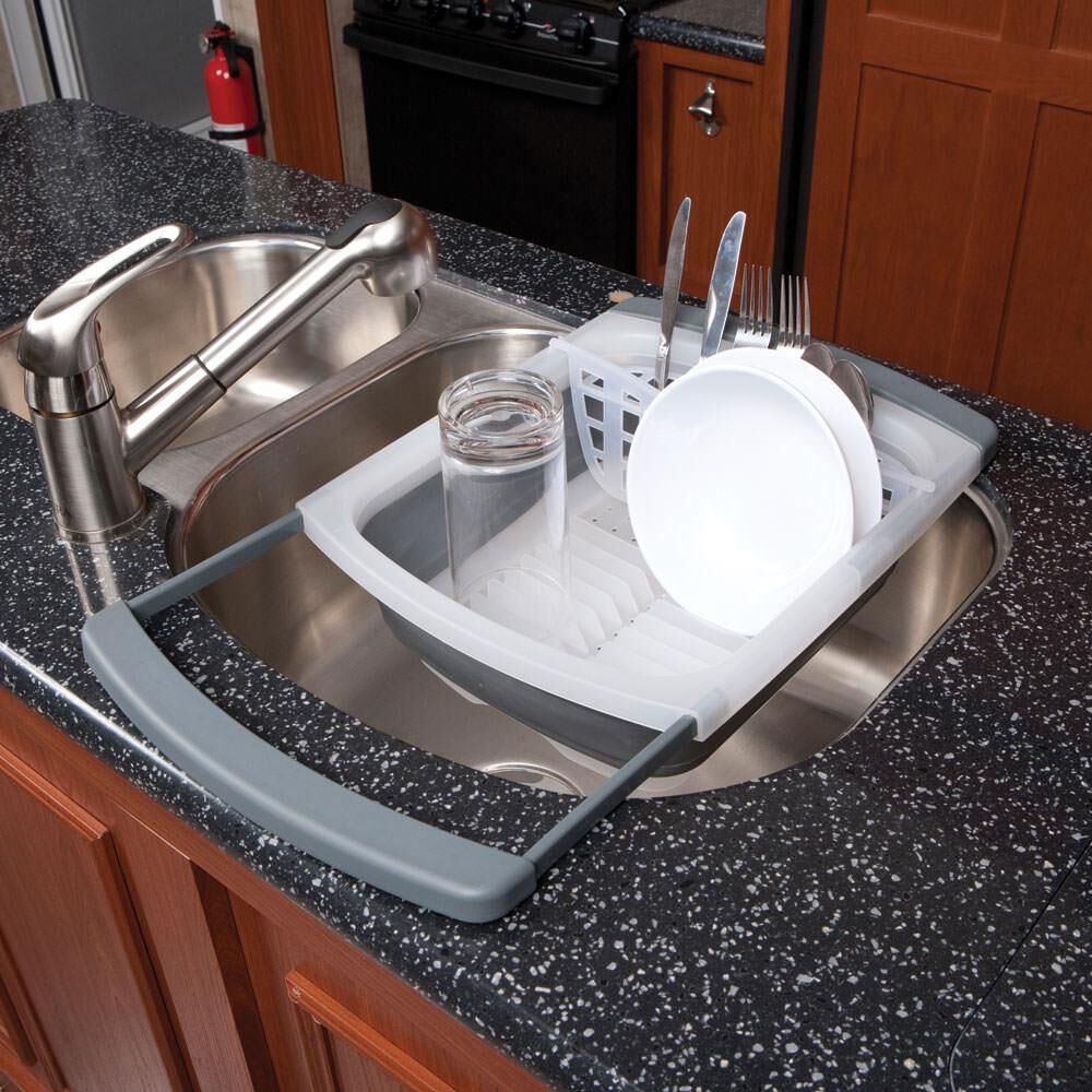 prepworks collapsible over the sink dish drainer