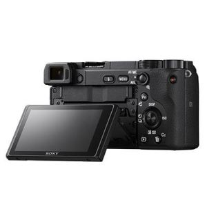 Sony a6400 Camera Body Back Facing with flip screen