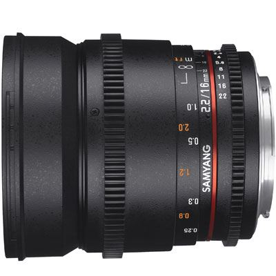Samyang 16mm T2.2 ED AS UMC CS II VDSLR Lens