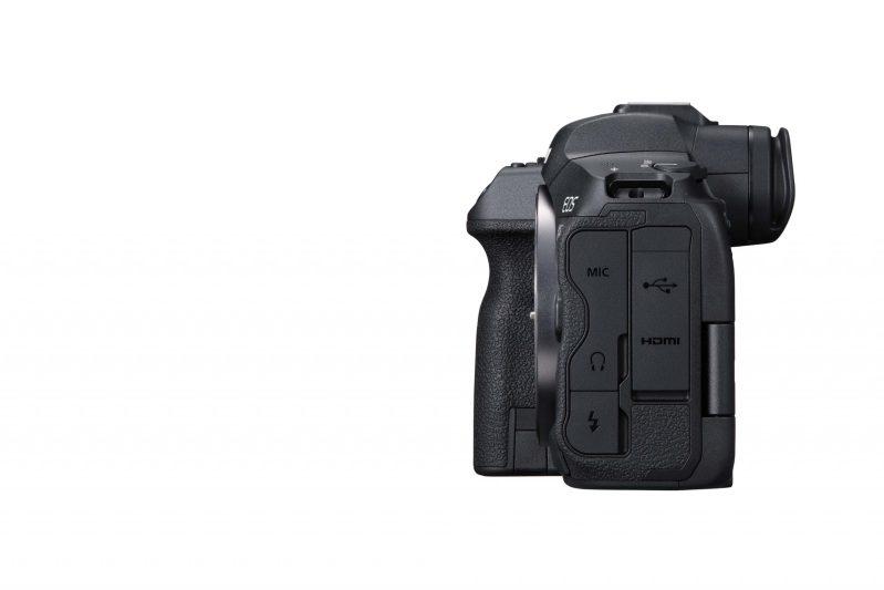 Canon R5 left angle